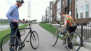 Bikes outside house