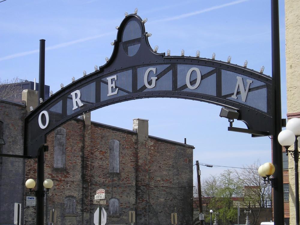 Oregon District Sign