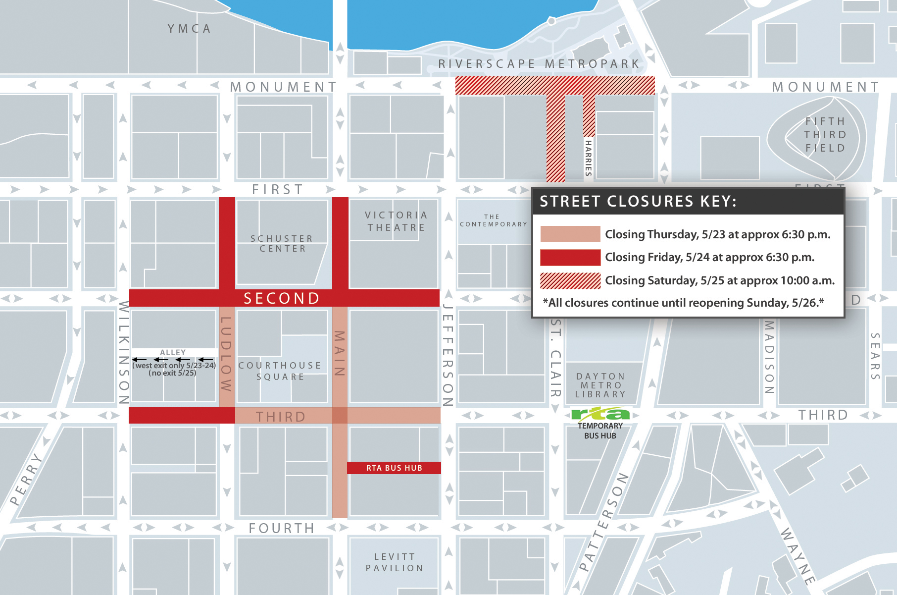 Upcoming Street Closures: Preparations for May 25 Rally | Downtown on